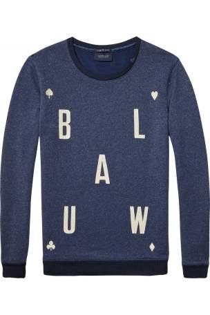 Blauw Logo Glitter Sweater