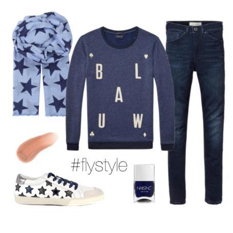 blauw sweater