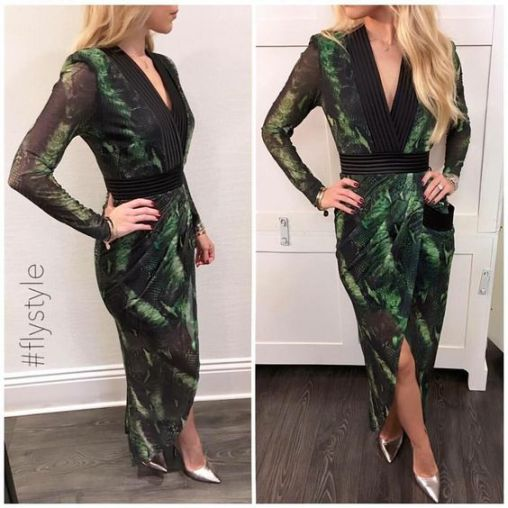 Party 21 Green Snake Dress