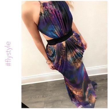 Purple Snake Dress