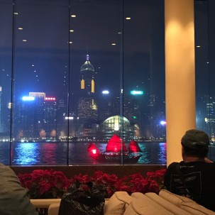 Hong Kong Intercontinental Bar HK Island views